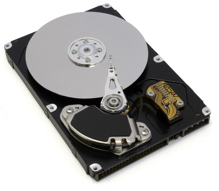 Bit & Bytes - geöffnete Festplatte